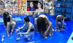 Lộ ảnh Hương Giang mua giày cho Nhật Hà trên đất Thái