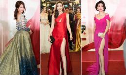 Dàn sao Việt khoe sắc lộng lẫy trên thảm đỏ Đêm hội chân dài số cuối cùng tại Singapore