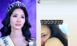 Hoàng Thùy đăng ảnh tóc xõa rối mệt mỏi, khóc đỏ hoe mắt khiến fans lo lắng