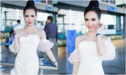 Hot girl chuyển giới Trần Đoàn ăn mặc giản dị vẫn đầy nổi bật tại phi trường Singapore