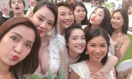 Nhã Phương xuất hiện xinh đẹp trong đám cưới bạn thân nhưng vẫn không thể lấn át cô dâu