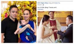 Kỷ niệm 3 năm ngày cưới đơn giản nhưng vẫn đầy ngọt ngào của Đinh Ngọc Diệp và Victor Vũ