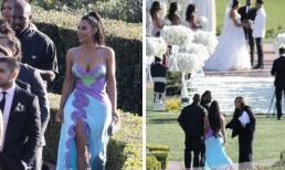 Ăn mặc gợi cảm, khoe trọn vòng 1 khi đi đám cưới nhưng Kim Kardshian và chồng phải đứng ngoài rìa vì lý do này