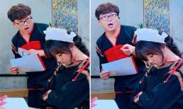 Bị MC Đại Nghĩa đăng ảnh 'dìm hàng', Hari Won không những không 'giận' mà còn chia sẻ lại