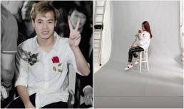 Diện áo đôi thêu hoa hồng cùng bạn gái và biểu cảm ngượng ngùng, Văn Toàn khiến fans nữ 'ngất lịm'