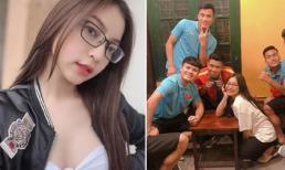 Giữa một dàn cầu thủ điển trai, bạn gái Quang Hải nhận mình xinh đẹp nhất