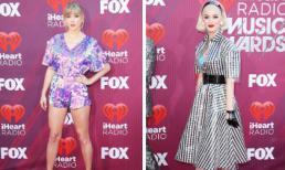 Taylor Swift triệt để khoe chân, Katy Perry chơi trội khi khoác nhựa trong suốt lên người trên thảm đỏ