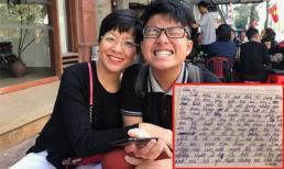 MC Thảo Vân ngực nghẹn lại, gần như không thở nổi khi đọc bài viết về tình mẫu tử của con trai