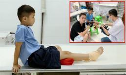 Con trai Đăng Khôi bị chấn thương trật cổ chân và giãn dây chằng