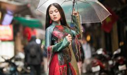Hoa hậu Tuyết Nga gây thương nhớ với áo dài sau đăng quang