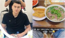 Đặng Văn Lâm bất ngờ về nước, khoe ảnh cắt tóc và ăn phở ở Hà Nội