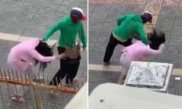 Chồng đánh vợ bầu dã man giữa phố mặc con nhỏ khóc thét vì sợ hãi