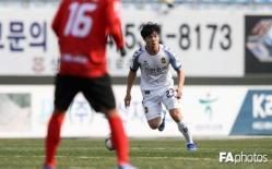 25 phút trình diễn của Công Phượng trong trận đấu giữa Incheon United và Sangju Sangmu