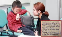 Rơi nước mắt trước những dòng chữ nguệch ngoạc của con trai Vân Hugo viết về mẹ