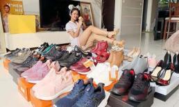 H'Hen Niê khoe hàng loạt giày mới nhiều đến nỗi 'Năm tới sẽ không phải tốn tiền phải mua nữa'
