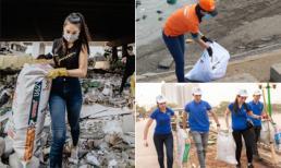 Không chỉ các bạn trẻ mà sao Việt cũng hào hứng thực hiện trào lưu 'Thử thách dọn rác'
