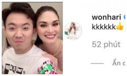 Trấn Thành đăng ảnh áp má tình tứ bên Hoa hậu Hoàn vũ thế giới 2015 nhưng bất ngờ nhất là bình luận của Hari Won
