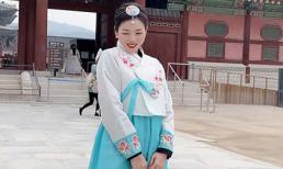Lệ Quyên cực xinh khi diện trang phục truyền thống của Hàn Quốc