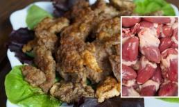 Tim gà chiên trứng: Món ngon lạ miệng