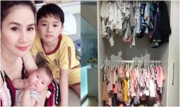 Mới hơn 1 tháng tuổi, con gái Thân Thúy Hà đã được mẹ sắm cho tủ quần áo 'khủng'