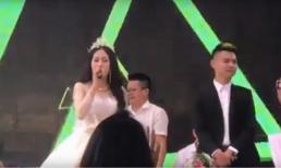Cô dâu xinh đẹp hát 'Về ăn cơm' hay như ca sĩ làm cả hôn trường không rời mắt