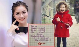 Con gái viết chữ nhanh và ẩu, diễn viên Diệu Hương có cách khắc phục mà không cần quát mắng