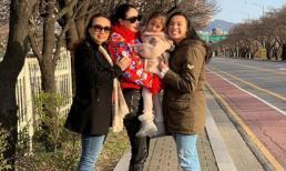 Vừa du lịch Hội An trước đó, Hà Kiều Anh đã lại cùng con gái lại vi vu sang Hàn Quốc