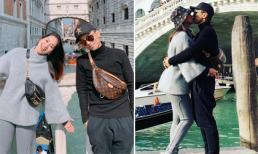 Vợ chồng Khánh Thi, Phan Hiển 'khóa môi', tình tứ khi đi du lịch Ý