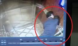 Kẻ biến thái sàm sỡ bé gái trong thang máy