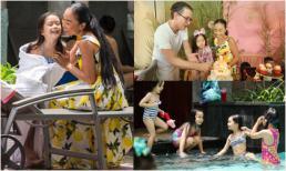 Tiệc sinh nhật 5 tuổi hoành tráng ở hồ bơi của con gái Đoan Trang
