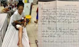 Thúy Nga tiết lộ bức thư tay xúc động của con gái sau tai nạn đứt chân phải nhập viện cấp cứu