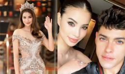 Hoa hậu Phạm Hương đăng ảnh chụp với trai Tây nhưng fan chỉ chú ý đến điểm này