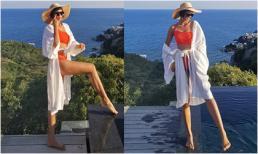 H'Hen Niê diện đồ bơi khoe thân hình săn chắc, gợi cảm ở resort sang chảnh ven biển