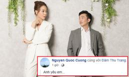 Cường Đô la bất ngờ hé lộ ảnh cưới, nói 'anh yêu em' với Đàm Thu Trang