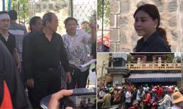 Bố và người thân đón quan tài cố nghệ sĩ Anh Vũ, một số sao và rất nhiều người dân cũng đến chùa Ấn Quang đưa tiễn