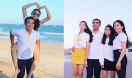 Vợ chồng Quyền Linh đưa con đi du lịch nhân dịp đón sinh nhật