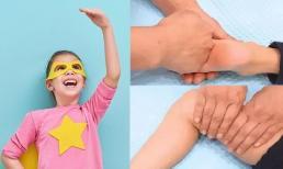 5 phút trước khi đi ngủ hãy làm 6 động tác massage này cho trẻ, không sợ sau này con không cao