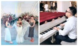 Đi tiệc cưới của Rhymastic nhưng Tóc Tiên và Hoàng Touliver lại tránh chụp ảnh cùng nhau