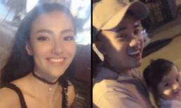 Hồng Quế bị nhắc nhở không đội mũ bảo hiểm khi dạo phố cùng con gái