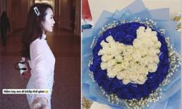 Khoe bó hoa hồng hình trái tim, bạn gái cũ của Phan Thành sắp công khai tình mới?