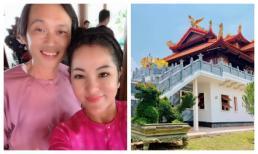 Tới thăm, Thuý Nga hé lộ những hình ảnh ngôi đền mới xây trong khuôn viên nhà thờ tổ trăm tỉ của Hoài Linh
