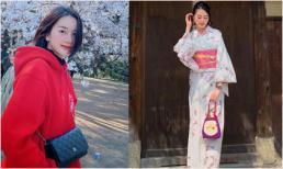 Thiều Bảo Trang diện Kimono, một mình khám phá xứ sở hoa anh đào
