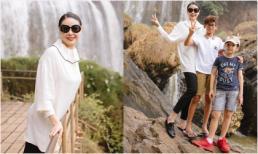 Hoa hậu Hà Kiều Anh lần đầu khám phá địa danh thác Voi - Đà Lạt