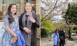 Hồng Vân tới Nhật Bản ngắm hoa anh đào nở muộn với người 'bạn thân cùng tiến' Hồng Đào