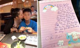Lê Phương xúc động trước bức thư viết sai chính tả của con trai