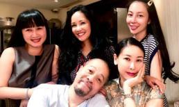 Vợ chồng NTK Đức Hùng hội ngộ cùng Hoa hậu Hà Kiều Anh, Hồng Nhung, Linh Nga tại Sài Gòn