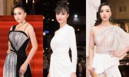 Lễ trao giải âm nhạc cống hiến lần thứ 14: Thảm đỏ rực rỡ nhan sắc 'nghiêng nước nghiêng thành' của dàn Hoa hậu, Á hậu Việt