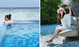 """""""Gái 1 con"""" Lâm Tâm Như chiêu đãi người hâm mộ bằng loạt ảnh mát mẻ ở Maldives"""
