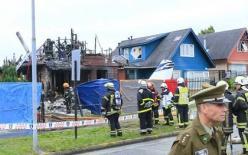 Máy bay rơi xuống nhà dân khiến 6 người thiệt mạng