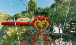 Cầu kính tình yêu 5D đầu tiên đặt tại Mộc Châu chuẩn bị đón khách dịp lễ 30/4